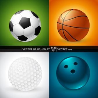Juego de bolas de deportes