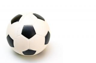 Balón de fútbol, blanco