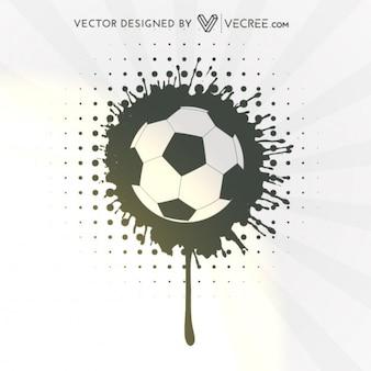 Balón de fútbol de Grunge