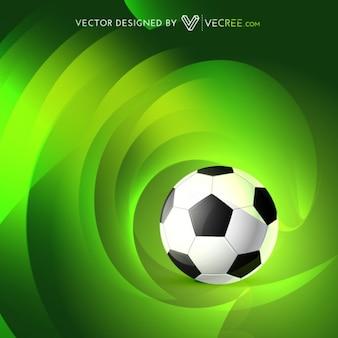 Balón de fútbol en backgroun verde