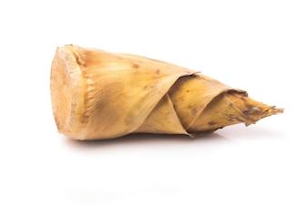 Bambú dispara sobre fondo blanco