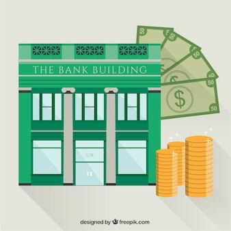 Banco dinero finanzas plana