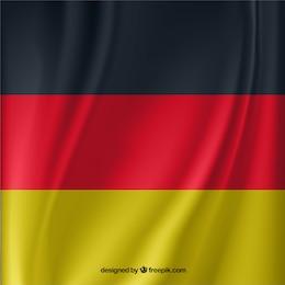 Bandera alemana ondeando