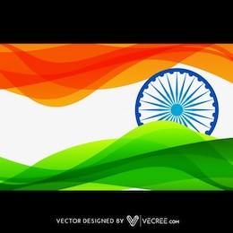 Bandera de la India en el estilo de la onda