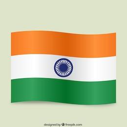 Bandera de la India ondeando