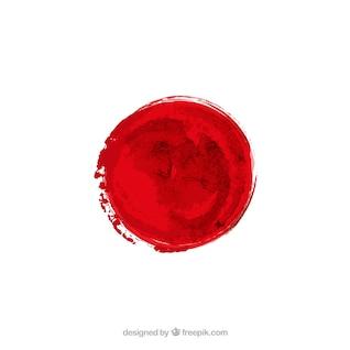 Bandera japonesa en estilo acuarela