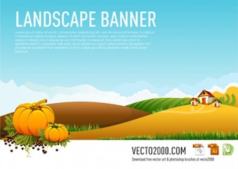 bandera paisaje ilustración vectorial