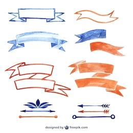 Banderas de acuarelas