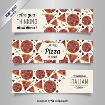 Banderas de pizza italiana