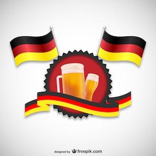 Banderas y cerveza de Alemania