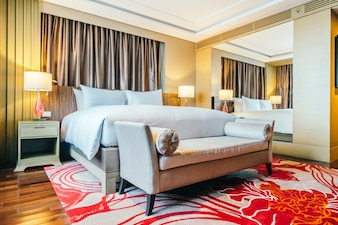 BANGKOK, Tailandia - 12 de agosto 2016: Hermosa int dormitorio de lujo