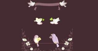 Banner con los pájaros del amor