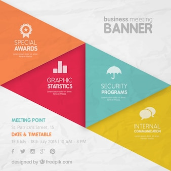 Banner de reunión de negocios