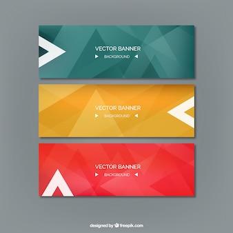 Banners abstractos de colores