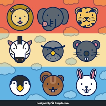 Banners con animales lindos