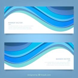 Banners con las ondas azules