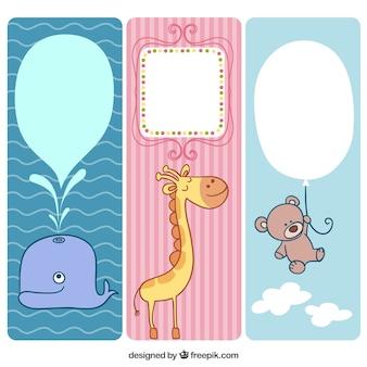Banners de animales lindos para bebé
