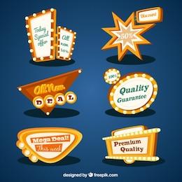 Banners de calidad en estilo retro