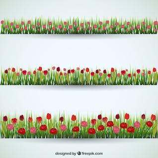 Banners de campos de flores
