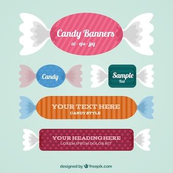 banners de caramelo