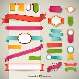 Banners de cinta en el estilo colorido