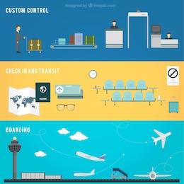 Banners de control aeroportuario