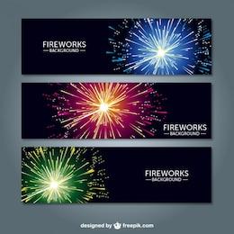 Banners de fuegos artificiales