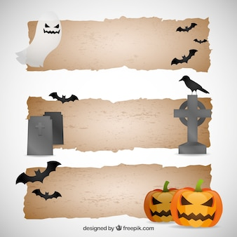 Banners de Halloween decoradas