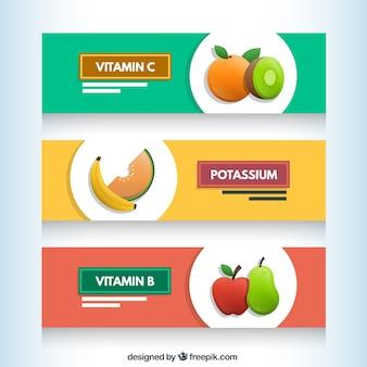 Banners de la fruta