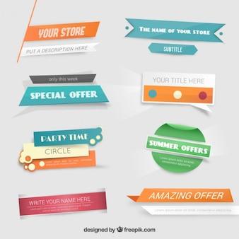 Banners de oferta especial en el estilo colorido