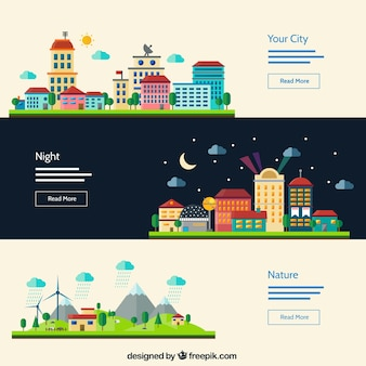 Banners de paisaje urbano