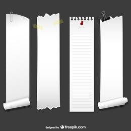 Banners de papel verticales