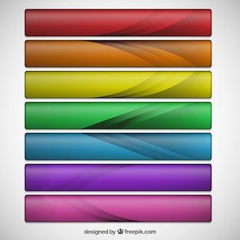 Banners de web en colores del arco iris