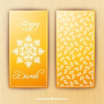 Banners diwali amarillas