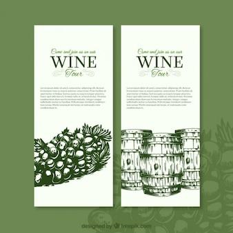 Banners elegantes de vino