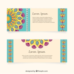 Banners en diseño indio