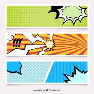 Banners en estilo cómic