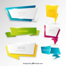 Banners en estilo origami