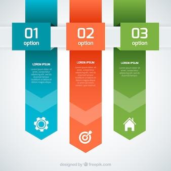 Banners infográficas de colores