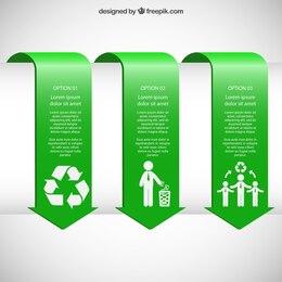 Banners infográficas verdes