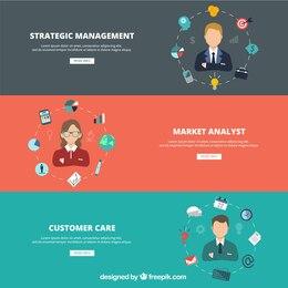 Banners para sitio web de negocio