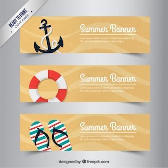 Banners retro del verano