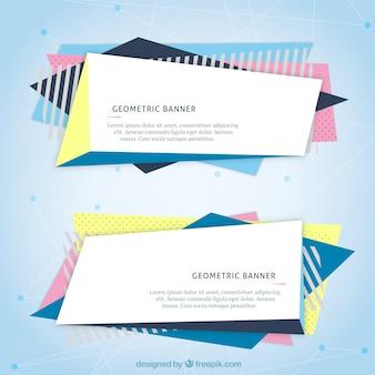 Banners web geométricas
