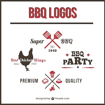 Pack de logos de barbacoa