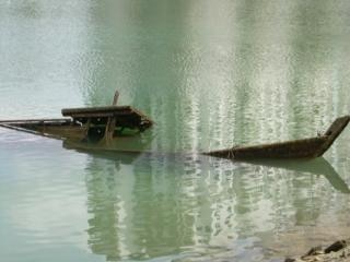 barco hundido, fregadero