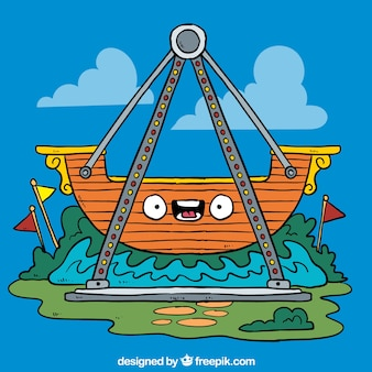 Barco pirata de dibujos animados