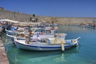 Barcos de pesca isla