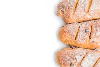 Barras de pan vistas desde arriba