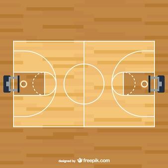 Vector cancha de baloncesto