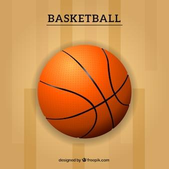 Plantilla con balón de baloncesto